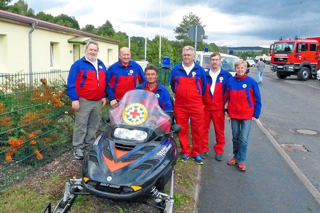 Team der Bergwacht Schleusingerneundorf