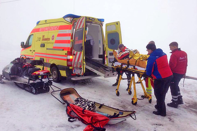 Einsatz der Bergwacht Suhl-Goldlauter am 24. Januar 2016