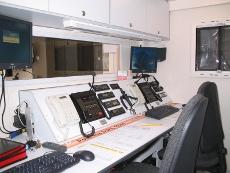 Funkarbeitsraum des Einsatzleitwagens