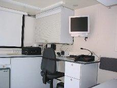 Computerarbeitsplatz im Einsatzleitwagen