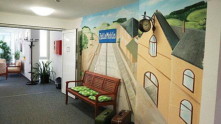 Eingangsbereich des Seniorenwohnheims Zella-Mehlis