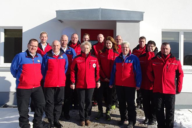 Mitglieder der Bergwacht Suhl-Goldlauter