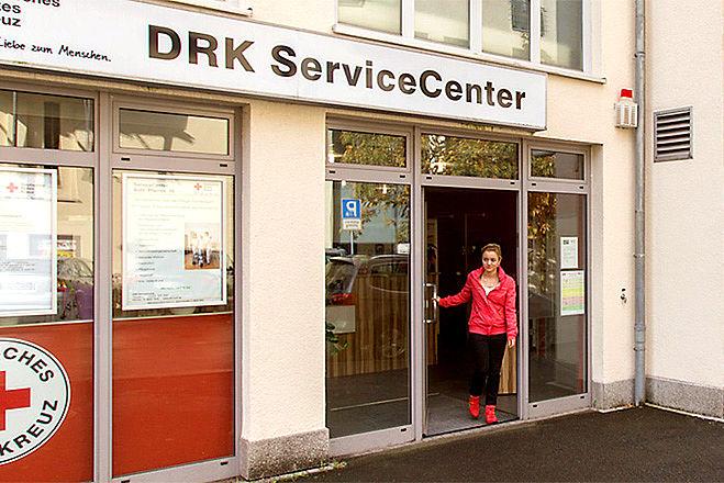 Eingang des Servicecenters in Suhl